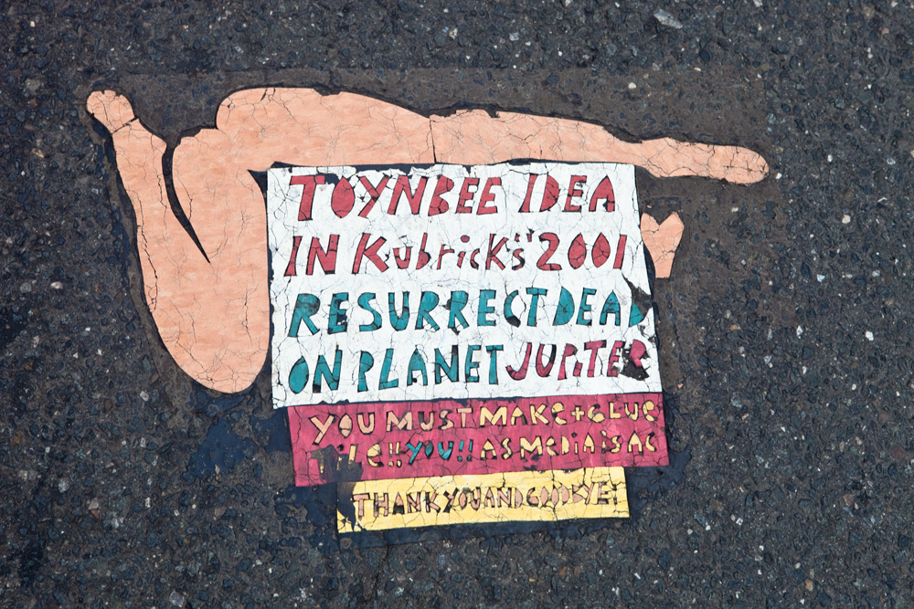House of Hades Copycat Toynbee Tile at Broad & Spruce in Philadelphia.